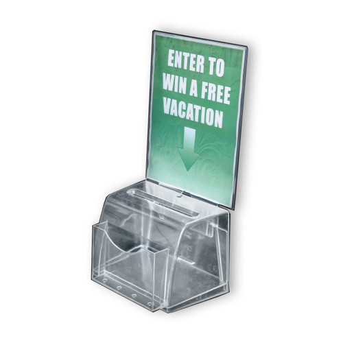 Clear Medium Molded Lottery Box with Pocket