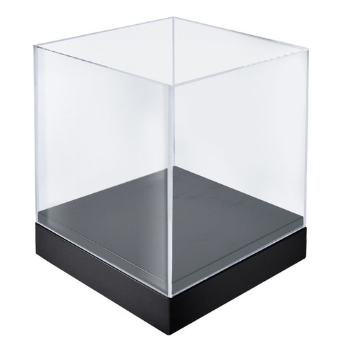 """CLOSEOUT: 10"""" Deluxe Clear Cube Showcase"""
