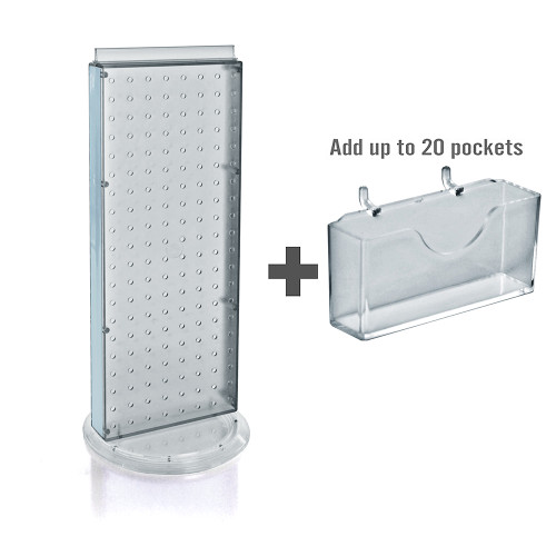 "20 Pocket, Revolving Pegboard Gift Card Kit for Countertop 8""W x 21""H"