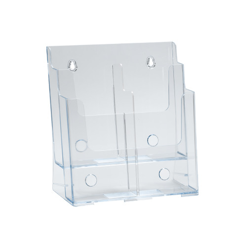 Two-Tier Four-Pocket Trifold Sized Brochure Holder