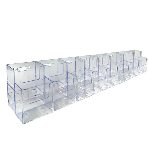Two-Tiered Tri-Fold Brochure Counter Display (16 Pockets)