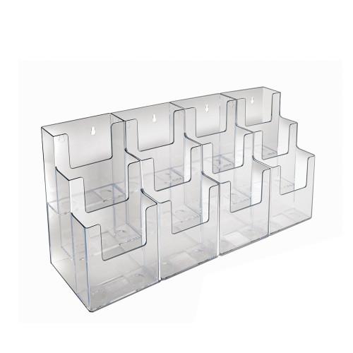 Three-Tiered Tri-Fold Brochure Counter Display (12 Pockets)