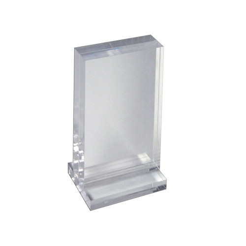 """The Imperial Collection: Acrylic Block Frame on Acrylic Base, Vertical  5""""W X 7""""H"""