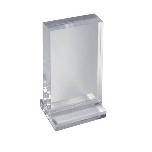 """The Imperial Collection: Acrylic Block Frame on Acrylic Base, Vertical 5.5""""W X 8.5""""H"""