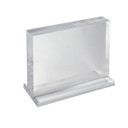 """The Imperial Collection: Acrylic Block Frame on Acrylic Base , Horizontal 11""""W X 8.5""""H"""