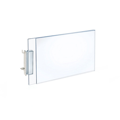 """Two-Sided Acrylic Sign Holder with Pegboard Grippers 7""""W x 5""""H"""