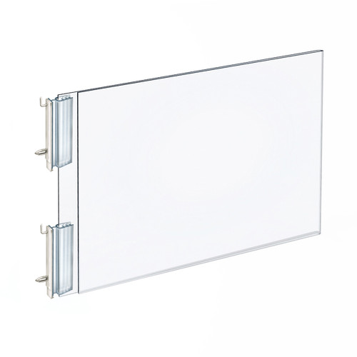 """Two-Sided Acrylic Sign Holder with Pegboard Grippers 11""""W x 8.5""""H"""