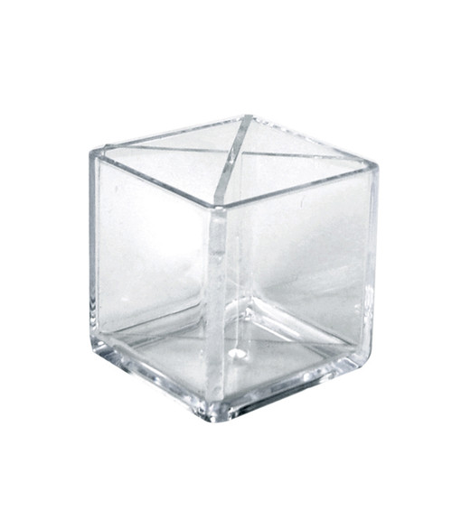 """Cube Pencil Holder with Divider 5""""W x 5""""D x 5""""H"""