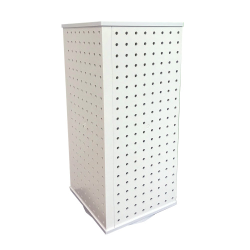 "CLOSEOUT: 223588 9""W x 21""H x 9""D 4-Sided Pegboard Counter Display"