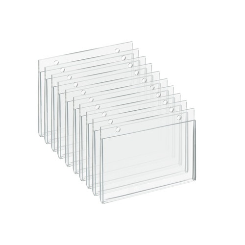 """Clear Acrylic Wall Hanging Frame 6"""" wide x 4'' High - Horizontal/Landscape, 10-Pack"""