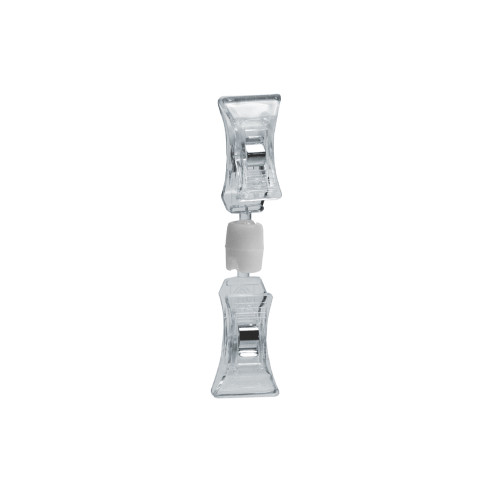 Double Clip-On Sign Holder-Clear