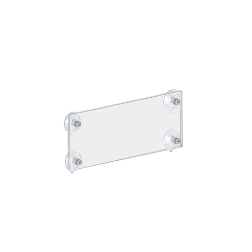 """CLOSEOUT: LIGHTLY SCRATCHED 8.5""""W x 5.5""""H Sign Frame with suction cups"""