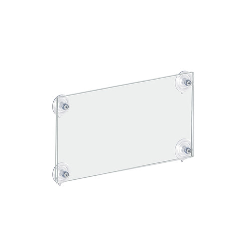 """CLOSEOUT: LIGHTLY SCRATCHED 11""""W x 8.5""""H Sign Frame with suction cups"""