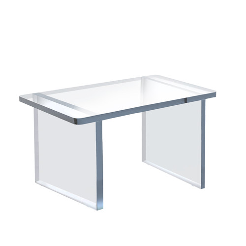 """Clear Acrylic 11.75""""W x 7.75""""D x 8""""H 1/2"""" Thick Deluxe Riser w/Bumpers"""