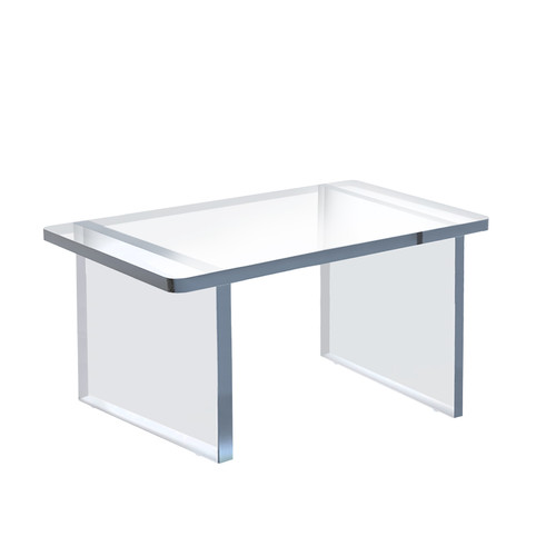 """Clear Acrylic 11.75""""W x 7.75""""D x 7""""H 1/2"""" Thick Deluxe Riser w/Bumpers"""