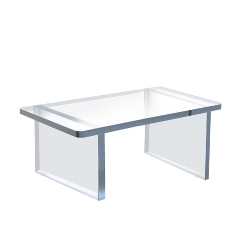 """Clear Acrylic 11.75""""W x 7.75""""D x 6""""H 1/2"""" Thick Deluxe Riser w/Bumpers"""