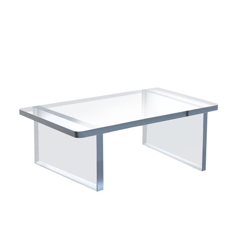 """Clear Acrylic  11.75""""W x 7.75""""D x 5""""H 1/2"""" Thick Deluxe Riser w/Bumpers"""