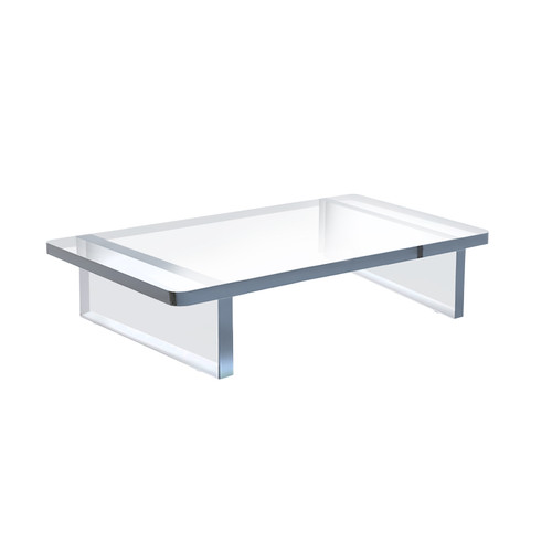 """Clear Acrylic 11.75""""W X 7.75""""D X 3""""H 1/2"""" Thick Deluxe Riser w/Bumpers"""