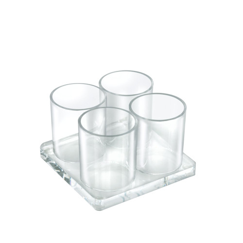 Four Cup Acrylic Deluxe Holder