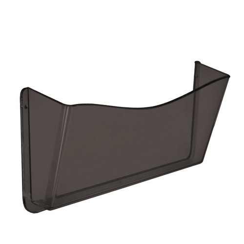 Dark Gray/Smoke Colored Single Pocket Wall File with Hanging Hardware, 4-Pack