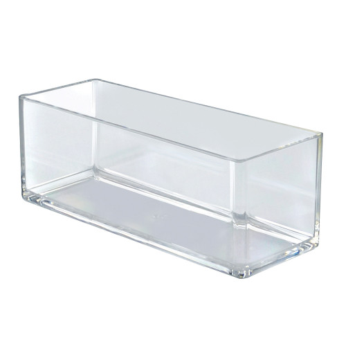 "4"" x 10"" Deluxe Clear Rectangular Bin"