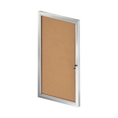 Medium Enclosed Cork Bulletin Board w/ Lock & Key
