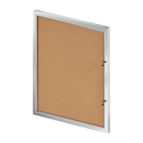 Large Enclosed Cork Bulletin Board w/ Lock & Key