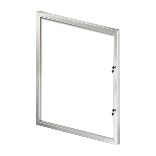 Large Enclosed Magnetic Message Board w/ Lock & Key