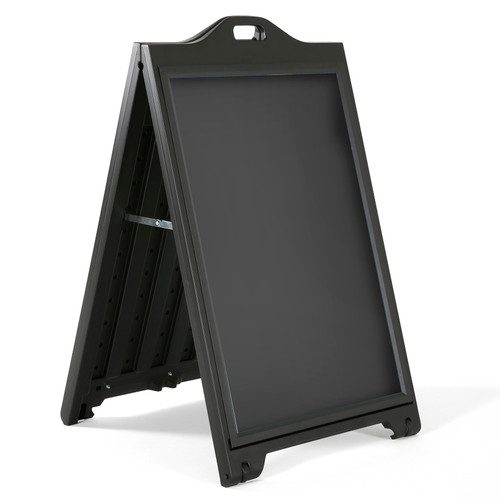 """Black Double-Sided Sidewalk  A-Frame Sign w/ Protective Lens 24"""" x 36"""""""