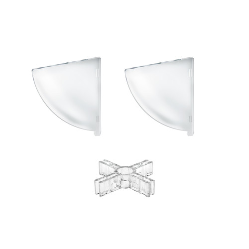"""Two Compartment Divider Set for 8"""" Bowl Counter Display (BOWL SOLD SEPARATELY)"""