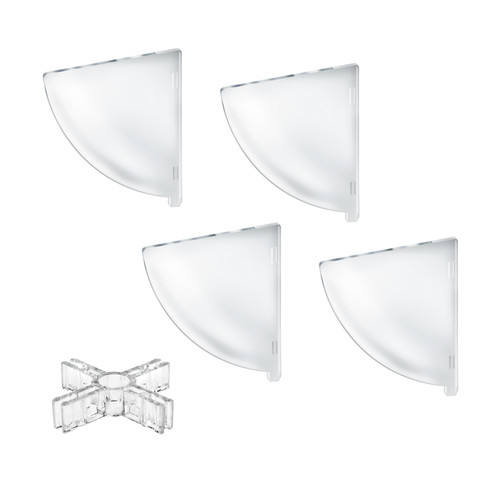 "Four Compartment Divider Set for 8""Bowl  Counter Display (BOWL SOLD SEPARATELY)"