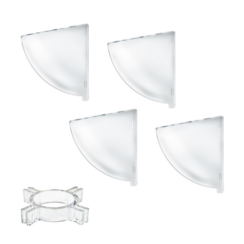 "Four Compartment Divider Set for 8"" Bowl Floor Display (BOWL SOLD SEPARATELY)"