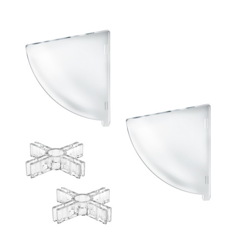 """Two Compartment Divider Set for 10"""" Bowl Counter Display (BOWL SOLD SEPARATELY)"""