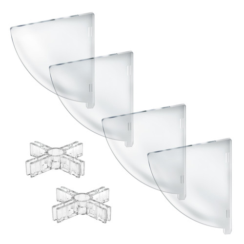"Four Compartment Divider Set for 10"" Bowl  Counter Display (BOWL SOLD SEPARATELY)"