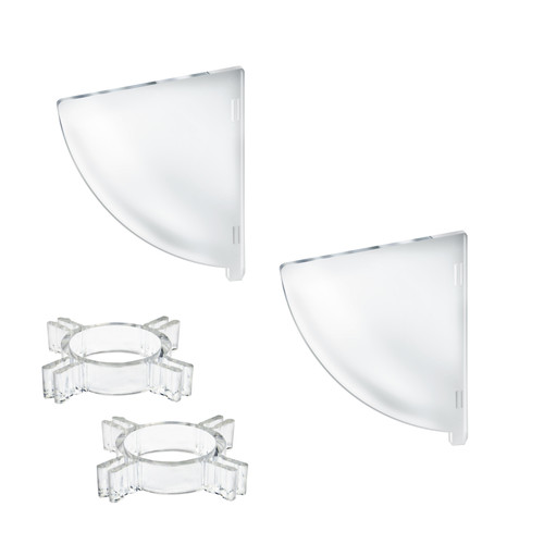 "Two Compartment Divider Set for 10"" Bowl Floor Display (BOWL SOLD SEPARATELY)"