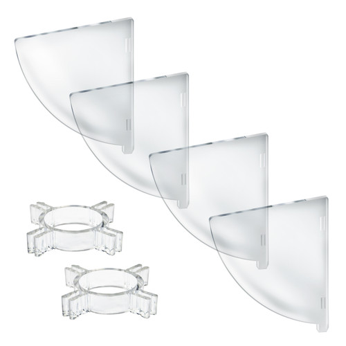 "Four Compartment Divider Set for 10"" Bowl Floor Display (BOWL SOLD SEPARATELY)"