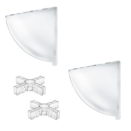 """Two Compartment Divider Set for 12"""" Bowl Counter Display (BOWL SOLD SEPARATELY)"""