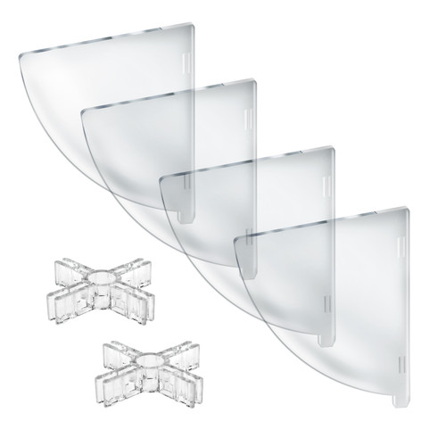 "Four Compartment Divider Set for 12"" Bowl  Counter Display (BOWL SOLD SEPARATELY)"