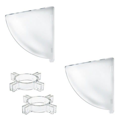 "Two Compartment Divider Set for 12"" Bowl Floor Display (BOWL SOLD SEPARATELY)"
