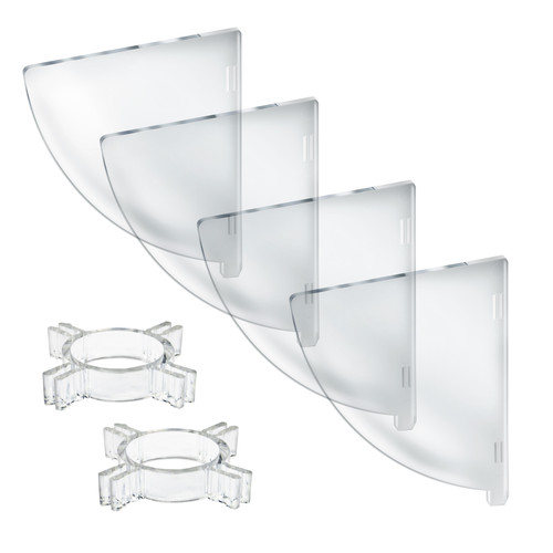 "Four Compartment Divider Set for 12"" Bowl Floor Display (BOWL SOLD SEPARATELY)"