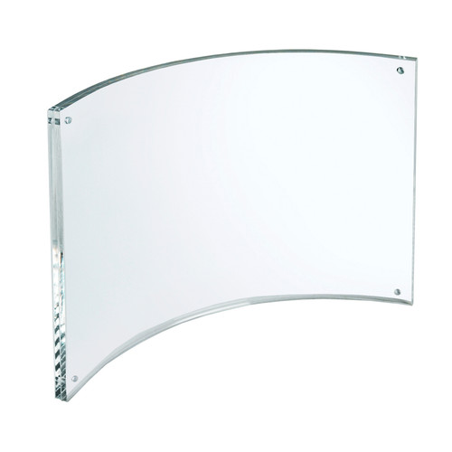 "Curved Magnetic Acrylic Sign Holder 11""W X 8.5""H"