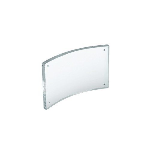 """Curved Magnetic Acrylic Sign Holder 6""""W X 4""""H"""
