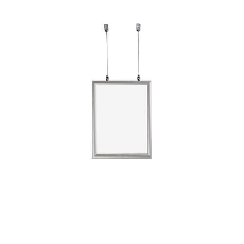 """8.5""""W x 11""""H Double-Sided Hanging Snap Frame"""