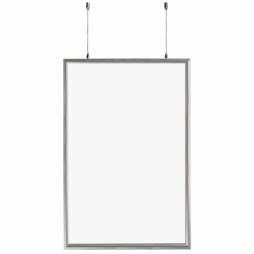 """24""""W x 36""""H Double-Sided Hanging Snap Frame"""