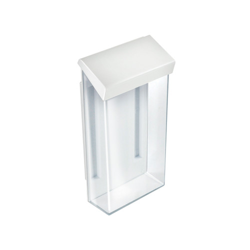 "Outdoor Adhesive Wall Mount Trifold Brochure Holder w/ White Lid for 4""W x 9""H Literature"
