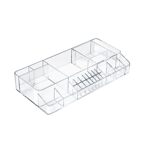 Small Clear Cosmetic Organizer for Counter
