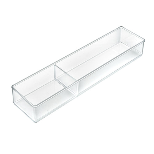 Two Compartment Slim Rectangle Cosmetic Organizer for Counter