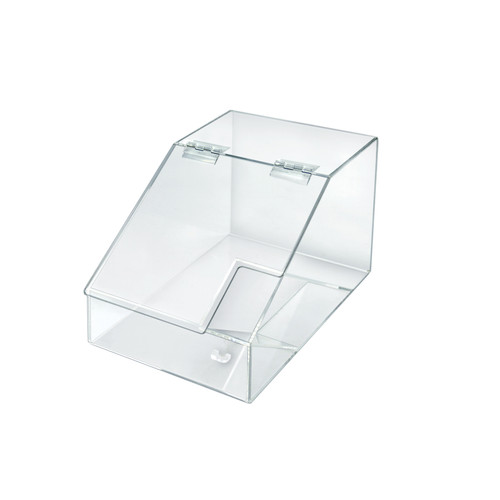 1.5 Gallon Acrylic Candy Bin with Lift-Open Top and Scoop