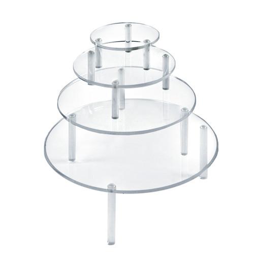 4-Piece Acrylic Small Round Riser Set