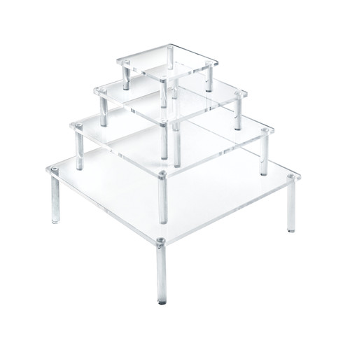 4-Piece Acrylic Square Riser Set